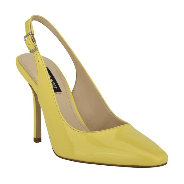 Nine West alison slingback pump in yellow patent