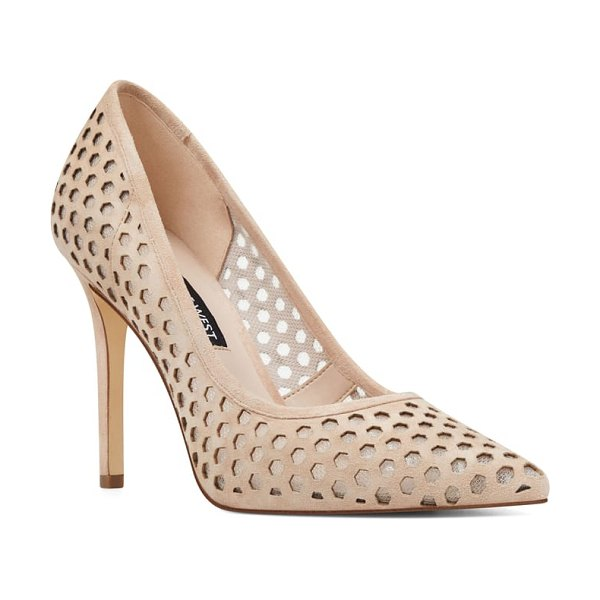 Nine West translate pointy toe pump in nude suede