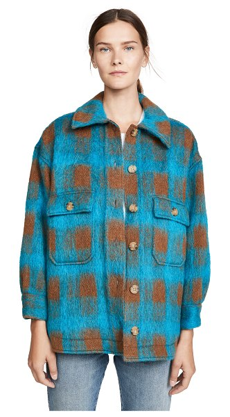 No.6 wilson jacket in turquoise plaid