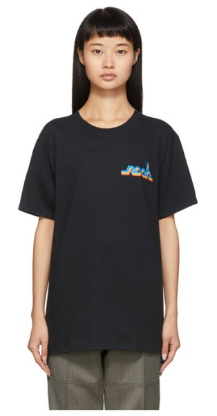 Noah Nyc connected logo t-shirt in black