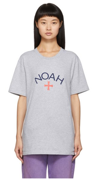 Noah Nyc grey core logo t-shirt in athletic he