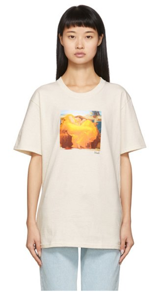 Noah Nyc off-white shall we dance t-shirt in natural