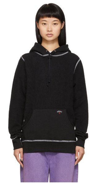 Noah Nyc reverse fleece hoodie in black