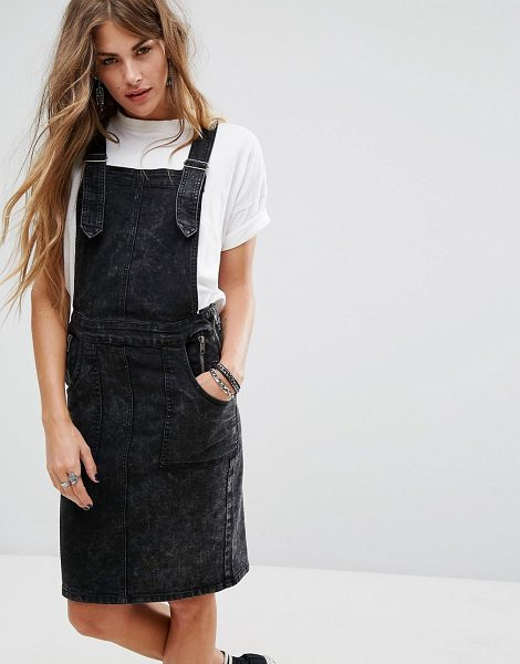 "NOISY MAY Brandy Overall Denim Dress - """"Dress by Noisy May, Firm-stretch denim, Classic pinafore..."