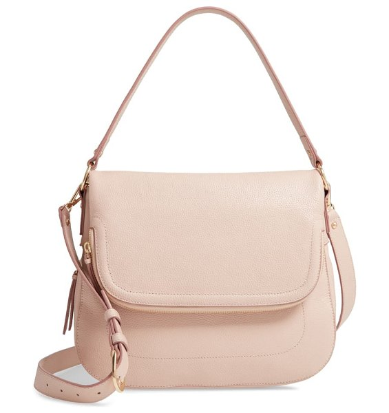 Nordstrom bella leather crossbody bag in pink dust