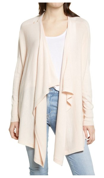 Nordstrom drape front cardigan in pink peony bud