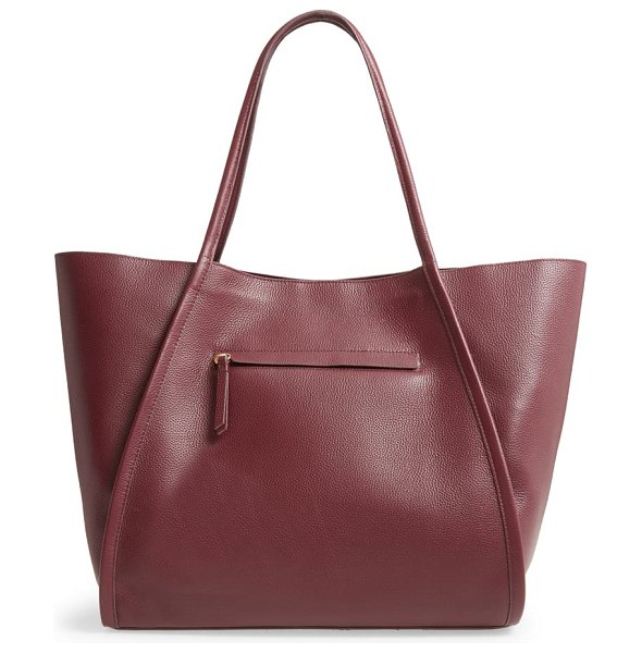 Nordstrom mercer leather tote in red rosewood