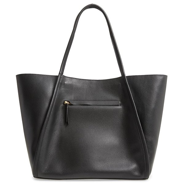 Nordstrom mercer leather tote in black