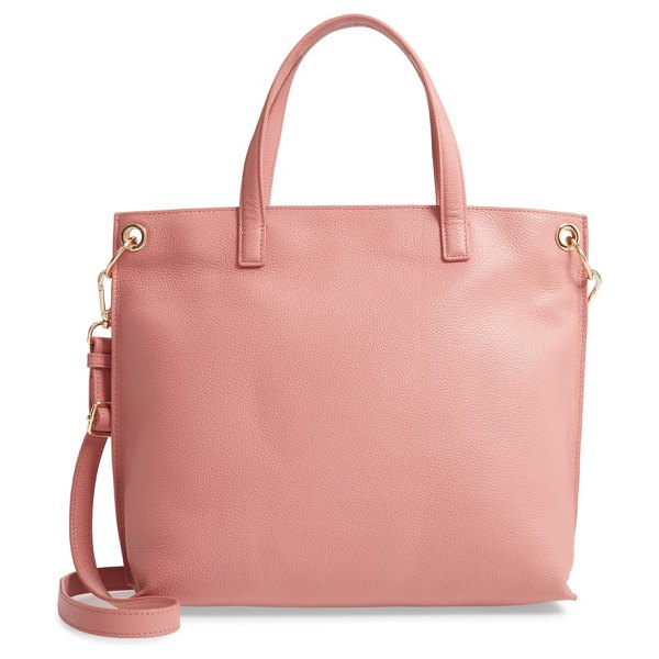 Nordstrom nicole leather tote in pink desert