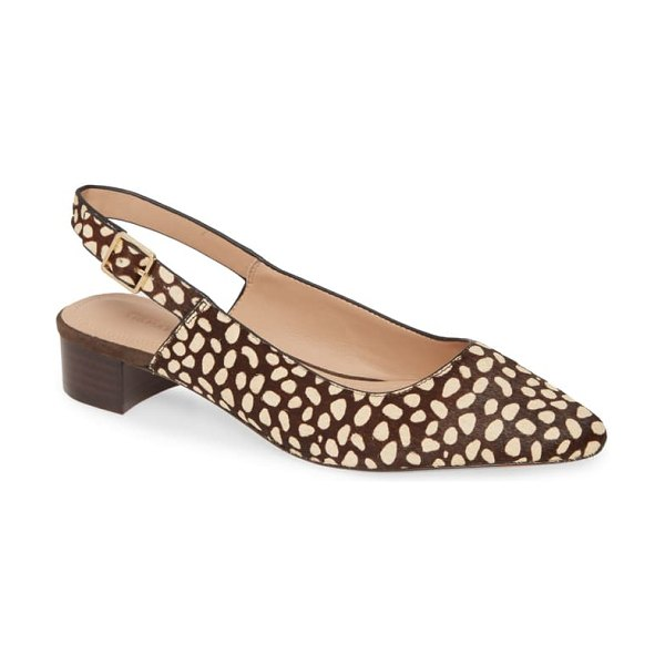 Nordstrom Signature elisa genuine calf hair slingback pump in chocolate haircalf