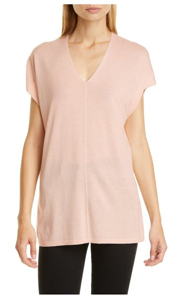 Nordstrom Signature silk & cashmere tunic in pink peony bud