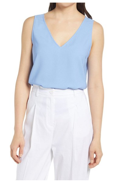 Nordstrom v-neck tank top in blue cornflower