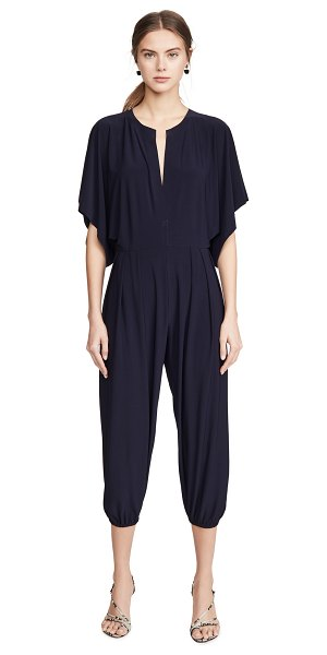 Norma Kamali kamali kulture rectangle jog jumpsuit in midnight