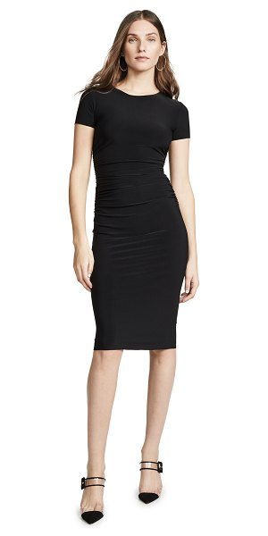 Norma Kamali kamali kulture shirred dress in black