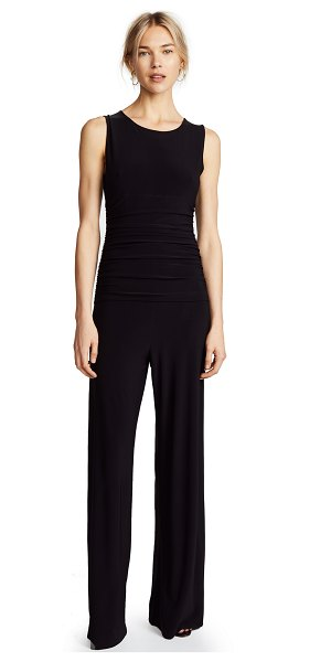 Norma Kamali kamali kulture shirred waist jumpsuit in black