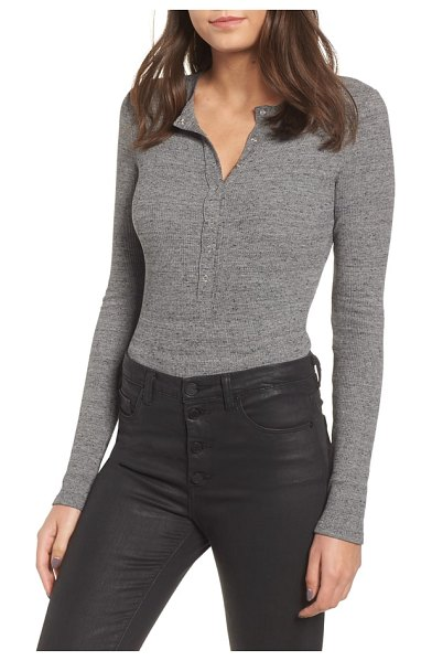 n:PHILANTHROPY monty bodysuit in heather grey