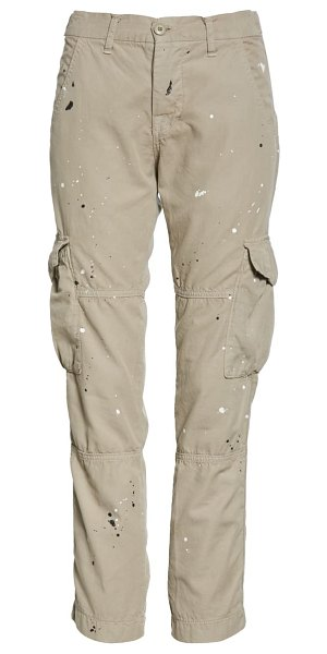 NSF Clothing basquiat ankle cargo pants in cement paint