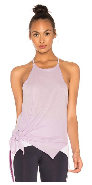 Nylora Chapin Tank in lavender - 100% cotton. Hand wash cold. Grosgrain shoulder straps....
