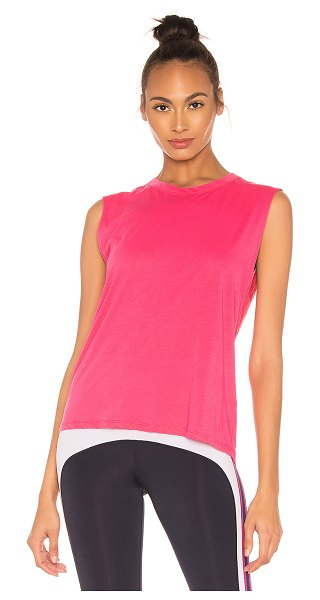 Nylora Nilo Tank in fuchsia - 100% cotton. Hand wash cold. Back keyhole with knot...