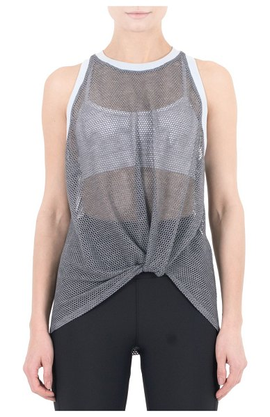 Nylora Perforated Tank Top in steel