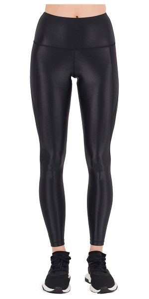 "Nylora Sydney Paneled Mesh High-Waist Leggings in black - Nylora ""Sydney"" leggings in sleek performance fabric...."