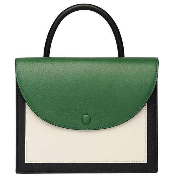 OAD assembly colorblock leather crossbody bag in neutral - Choose your side. Casual color-pop front or minimally...