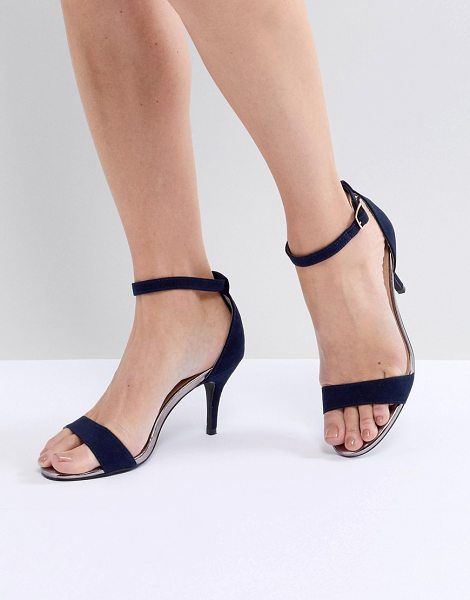 Oasis barely there heeled sandals in navy - Sandals by Oasis, Open toe, Show off your pedicure,...