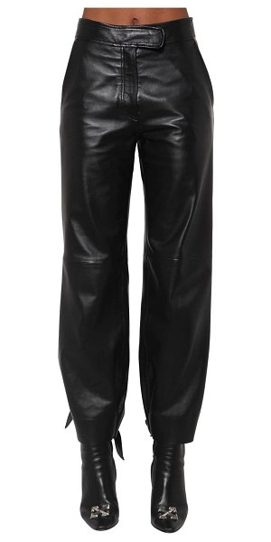 OFF-WHITE Baggy leather pants in black