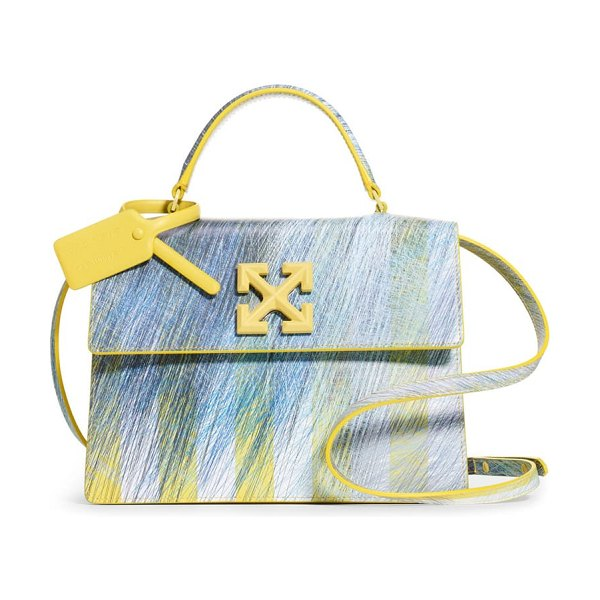 OFF-WHITE bouroullec print jitney 2.8 leather bag in yellow no color