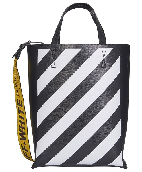 OFF-WHITE Diag tote bag in black / white