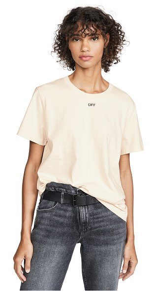 OFF-WHITE flowers tee in white