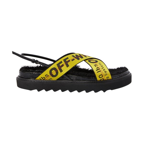 OFF-WHITE Industrial sandals in black yellow