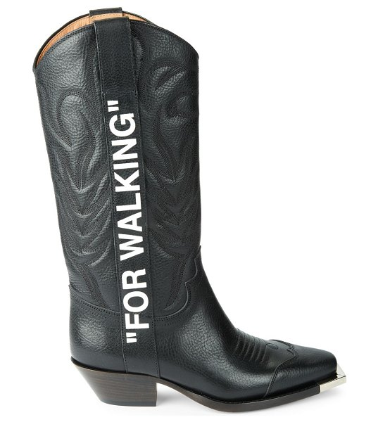 OFF-WHITE Leather Cowboy Boots in black