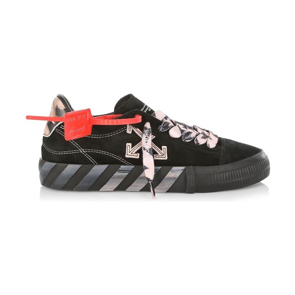 OFF-WHITE low liquid melt vulcanized suede sneakers in black pink