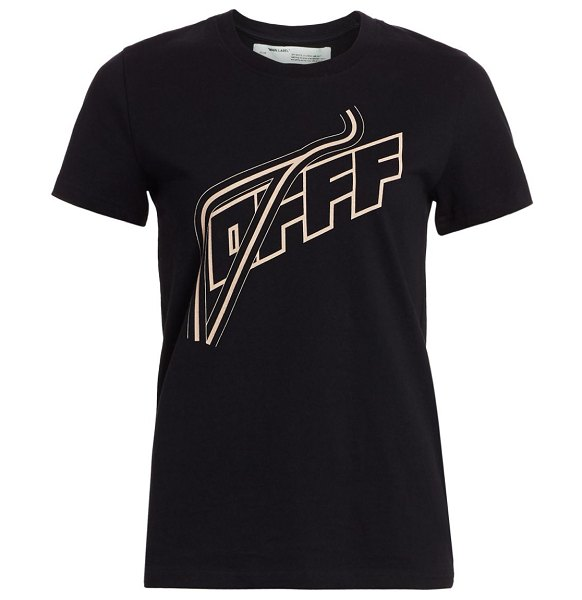 OFF-WHITE logo cotton t-shirt in black
