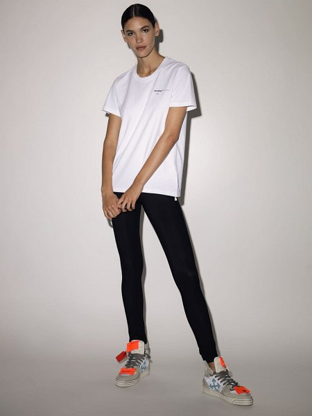 OFF-WHITE Lvr exclusive printed cotton t shirt in white