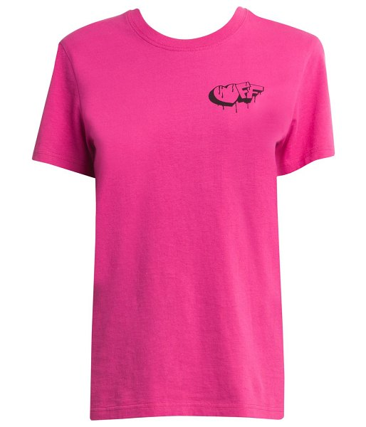 OFF-WHITE markers casual tee in fuchsia