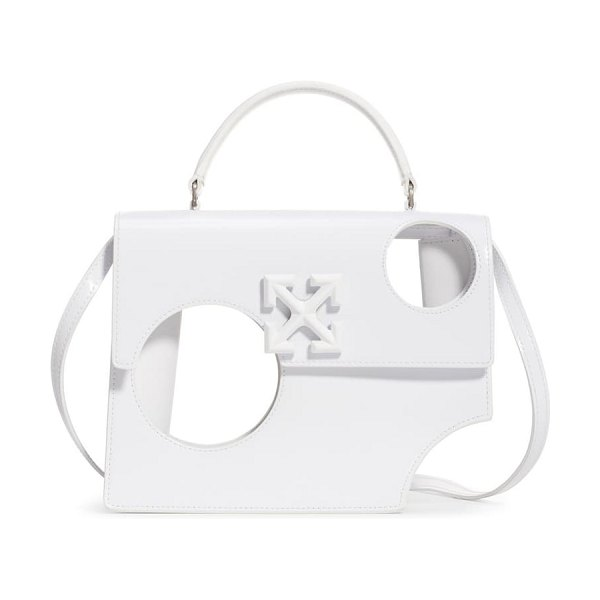 OFF-WHITE meteor shower jitney 2.8 leather bag in white no color