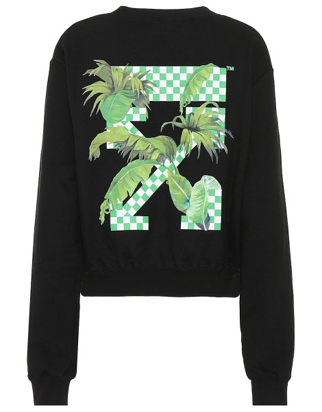 OFF-WHITE printed cotton sweatshirt in black