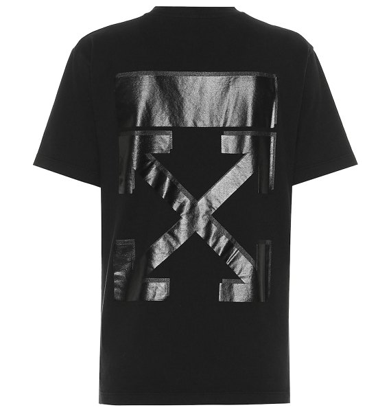 OFF-WHITE printed cotton t-shirt in black