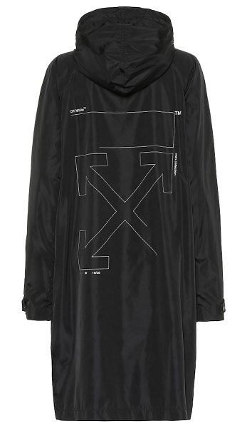 OFF-WHITE printed raincoat in black