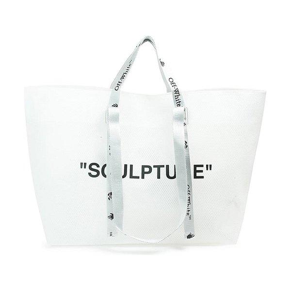 OFF-WHITE sculpture commercial tote in white black