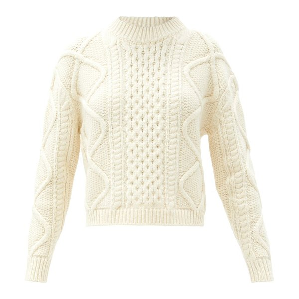 Officine Générale alizee cable-knit sweater in cream