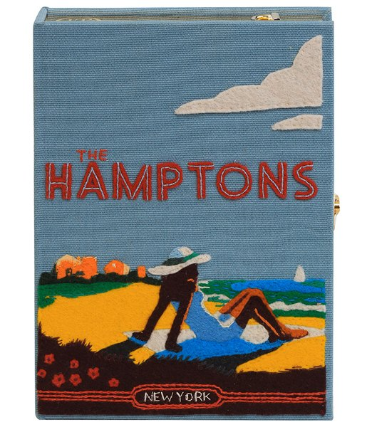 Olympia Le-Tan The Hamptons Strapped Book Clutch Bag in blue