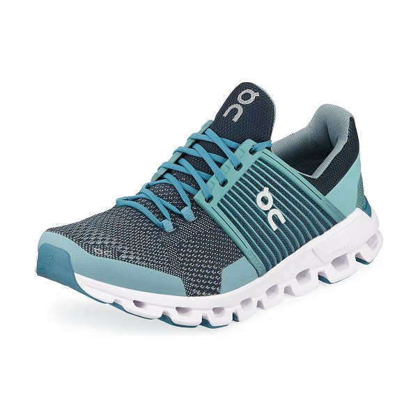 On CloudSwift Cushioned Running Sneakers in teal