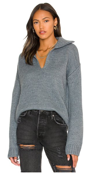One Grey Day annabelle pullover in grey goose