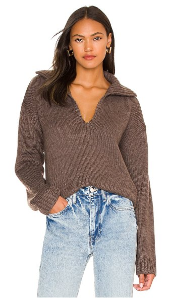 One Grey Day annabelle pullover in chocolate