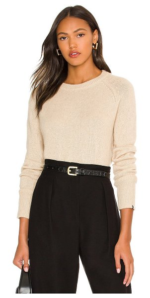 One Grey Day blakely cashmere crewneck in oatmeal