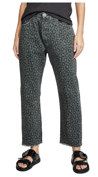 One Teaspoon night crawler bandits relaxed jeans in leopard