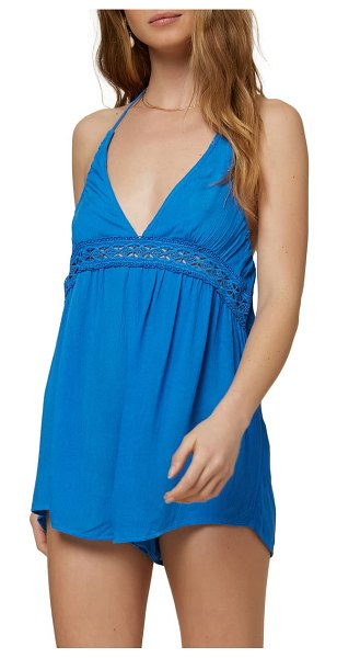 O'Neill fiesta cover-up romper in strong blue